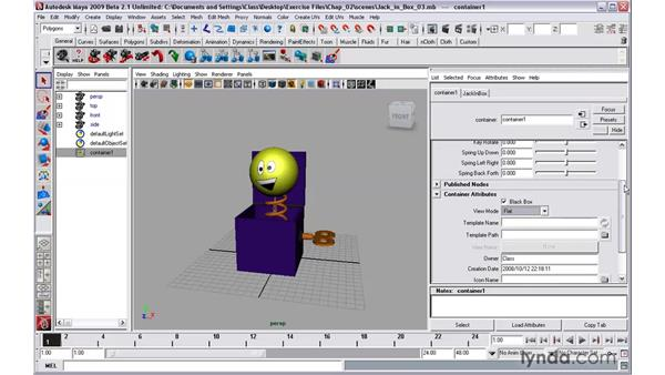 Modifying asset attributes: Maya 2009 New Features