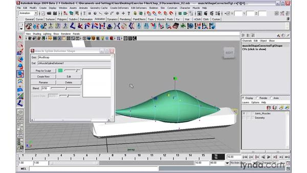 Sculpting muscle shapes: Maya 2009 New Features