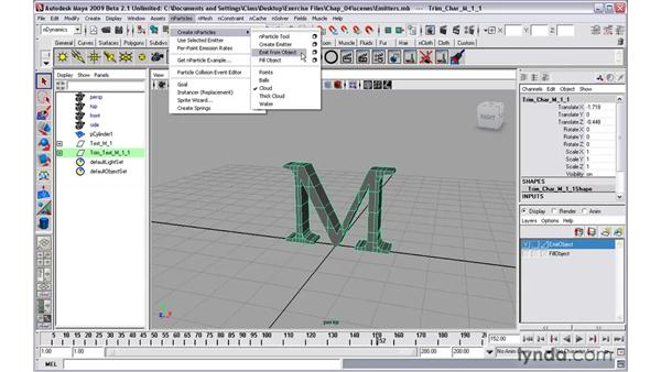 Creating emitters: Maya 2009 New Features