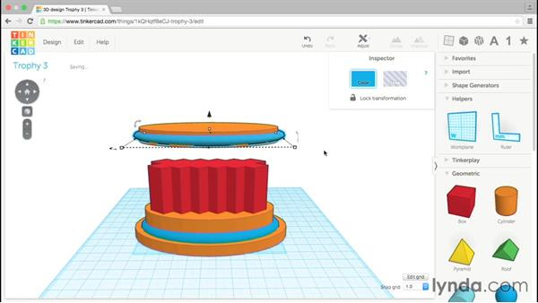 Copying objects: Tinkercad: Modeling Custom Designs for 3D Printing