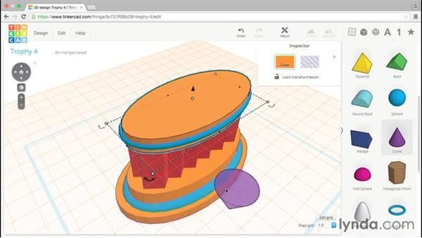 Adding shapes to avoid overhangs: Tinkercad: Modeling Custom Designs for 3D Printing