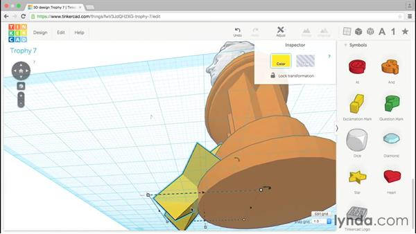 Adding a star: Tinkercad: Modeling Custom Designs for 3D Printing