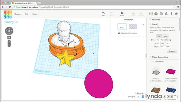 Incorporating SVG files: Tinkercad: Modeling Custom Designs for 3D Printing