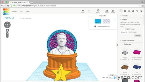 Positioning the crest: Tinkercad: Modeling Custom Designs for 3D Printing