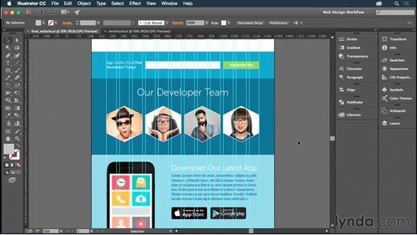 Exploring the final project: Illustrator CC for Web Design: Aesthetics