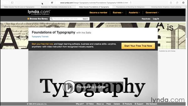 Choosing the right typefaces for your project: Illustrator CC for Web Design: Aesthetics
