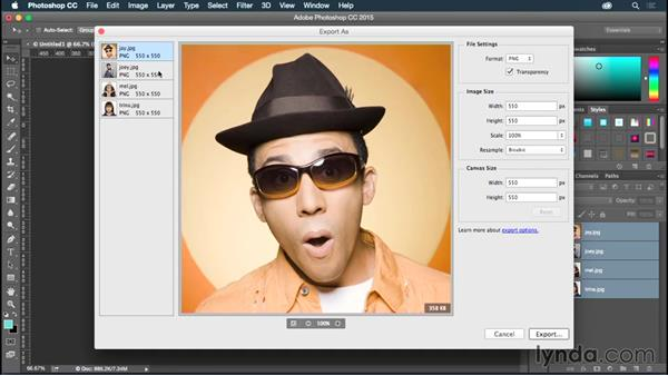 Optimizing raster graphics in Photoshop: Illustrator CC for Web Design: Aesthetics