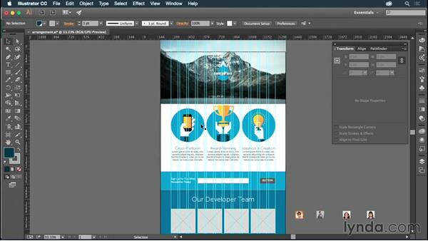 Finalizing image placement and appearance: Illustrator CC for Web Design: Aesthetics