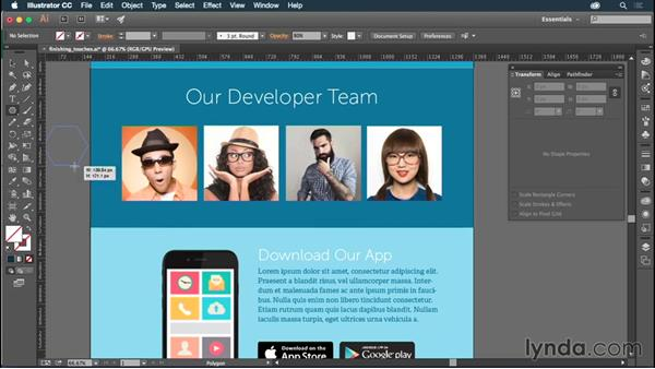 Adding finishing touches to your graphics: Illustrator CC for Web Design: Aesthetics