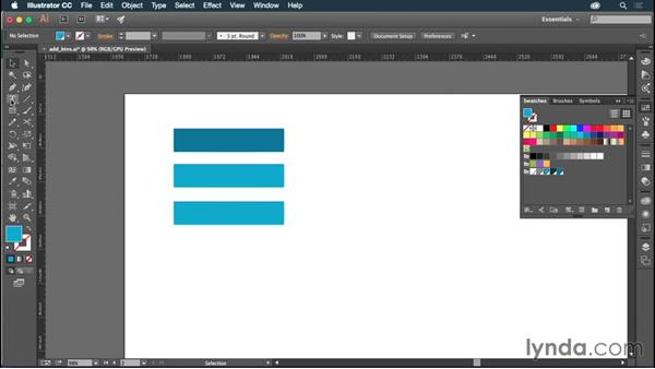 Creating a button scheme: Illustrator CC for Web Design: Aesthetics