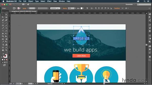 Designing your navigation: Illustrator CC for Web Design: Aesthetics