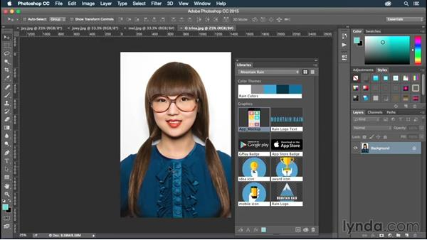 Creating a project library on Creative Cloud: Illustrator CC for Web Design: Aesthetics