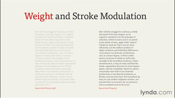 Enhancing weight and stroke modulation: InDesign CC EPUB Typography
