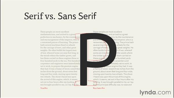 Deciding on serif vs. sans serif: InDesign CC EPUB Typography