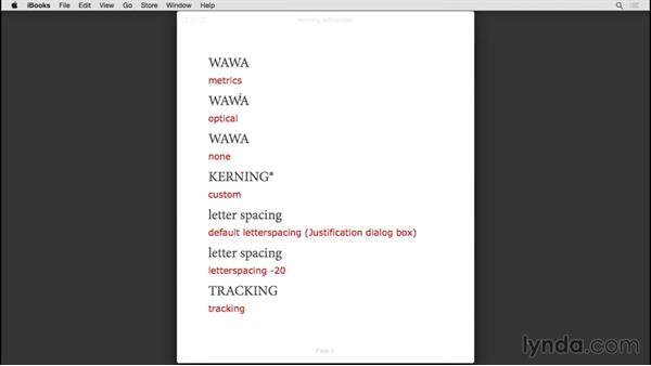 Letterspacing: InDesign CC EPUB Typography