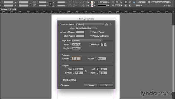 Controlling page and margin sizes: InDesign CC EPUB Typography