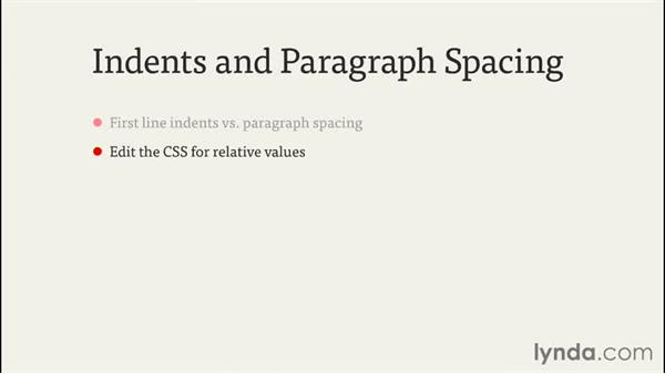 Creating indents and paragraph spacing: InDesign CC EPUB Typography