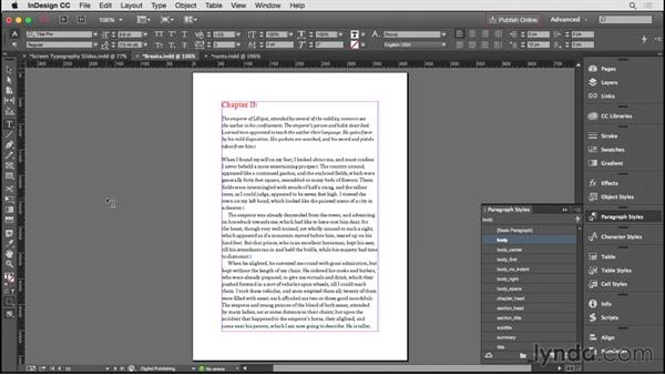 Controlling widows, orphans, and runts: InDesign CC EPUB Typography