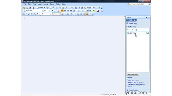 Creating views: InfoPath 2007 Essential Training