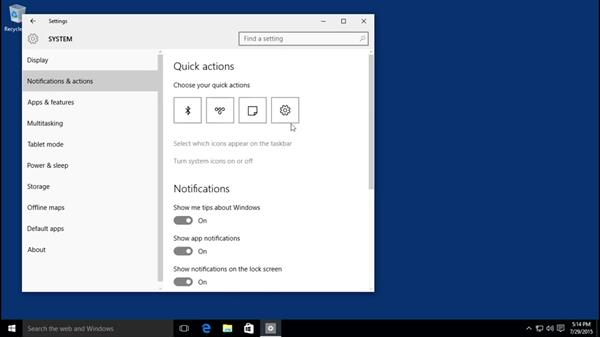 Introducing the Action Center, Settings, and Control Panel: Windows 10 Essential Training