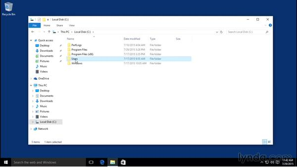 Browsing through folders: Windows 10 Essential Training