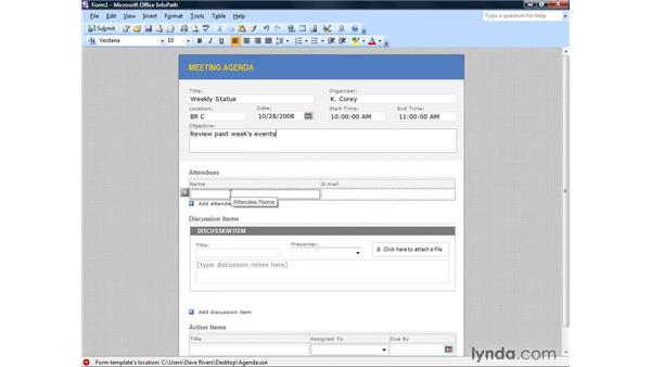 Publishing to a central location using Xcopy: InfoPath 2007 Essential Training