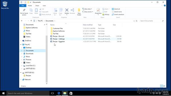 Zipping and unzipping packages: Windows 10 Essential Training
