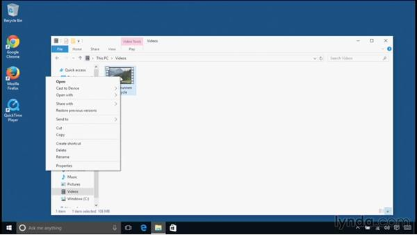 Setting application defaults: Windows 10 Essential Training
