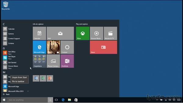 Uninstalling applications: Windows 10 Essential Training
