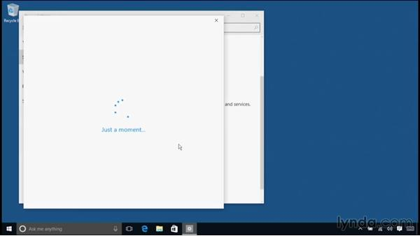 Adjusting sign-in options: Windows 10 Essential Training