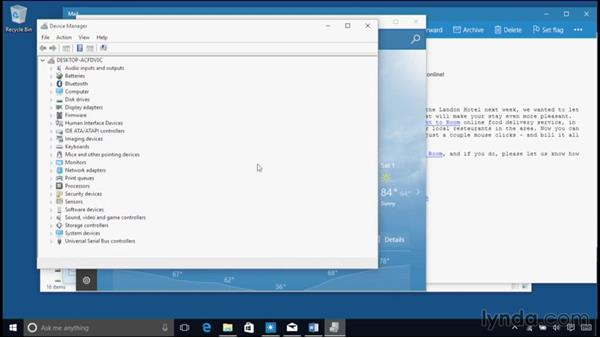 Accessing the Task Manager, Quick Link menu, and Control-Alt-Delete: Windows 10 Essential Training