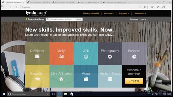 Next steps: Windows 10 Essential Training