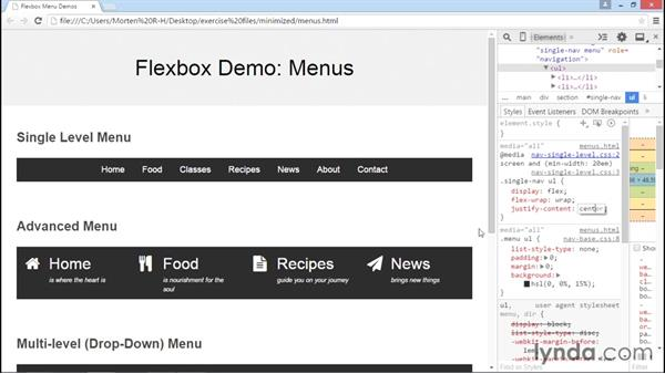 Exploring common menu layouts: Advanced Responsive Layouts with CSS Flexbox