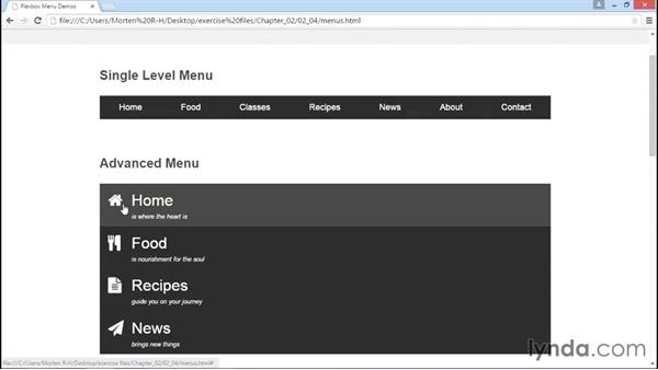 Using Flexbox to control advanced menus: Advanced Responsive Layouts with CSS Flexbox