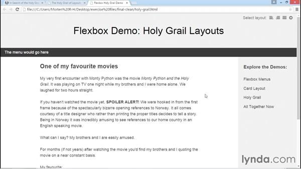 What is the holy grail layout?: Advanced Responsive Layouts with CSS Flexbox