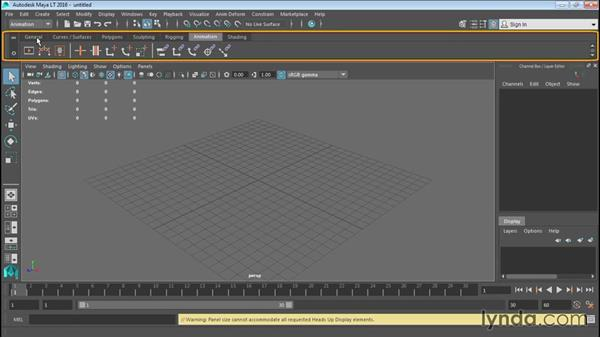 Overview of the Maya LT interface: Up and Running with Maya LT