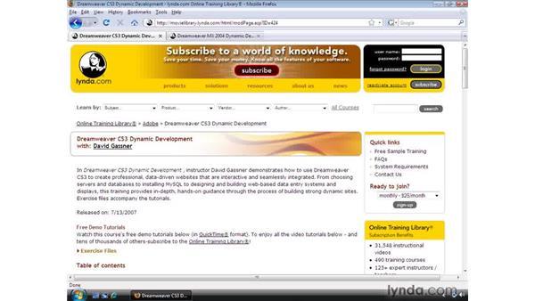 Using ASP and ASP.NET with Dreamweaver: Dreamweaver CS4 Dynamic Development