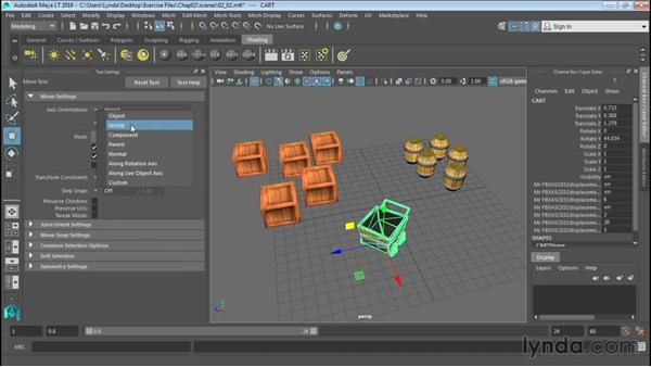 Using the Move tool: Up and Running with Maya LT