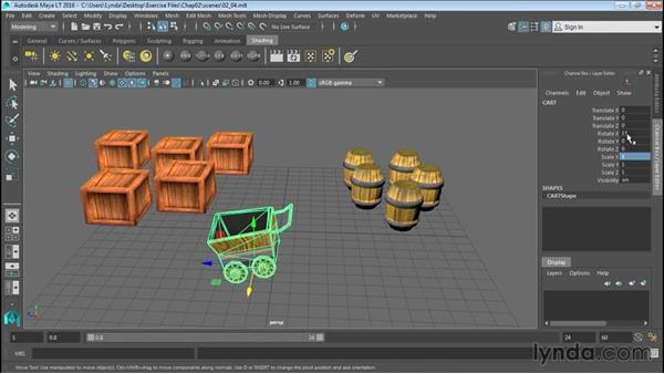 Understanding the Channel Box: Up and Running with Maya LT