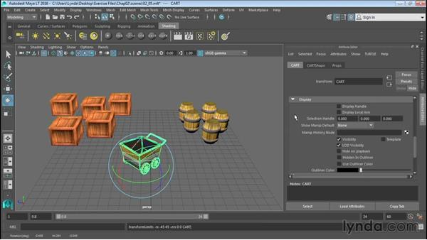 Working with the Attribute Editor: Up and Running with Maya LT
