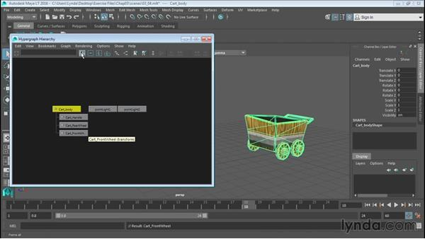 Working with the Hypergraph: Up and Running with Maya LT