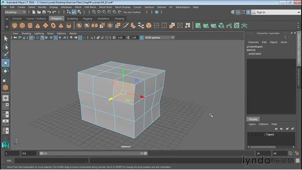 Selecting polygonal components: Up and Running with Maya LT