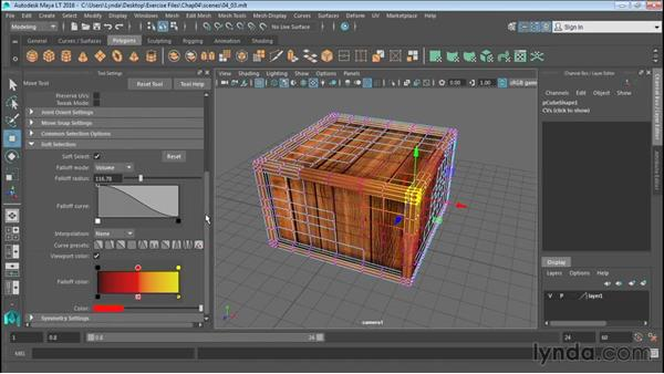 Modeling with Soft Select and Reflection: Up and Running with Maya LT