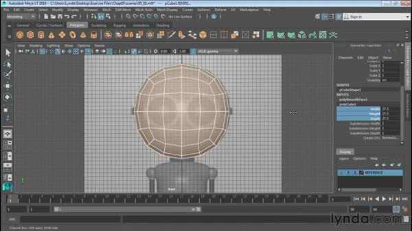 Modeling against reference: Up and Running with Maya LT