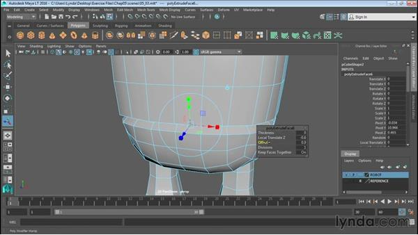 Working with edge loops: Up and Running with Maya LT