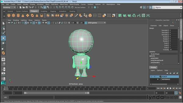 Managing object history: Up and Running with Maya LT