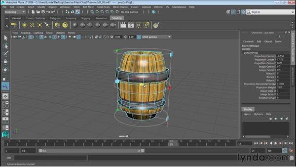 Basic UV mapping for polygonal objects: Up and Running with Maya LT