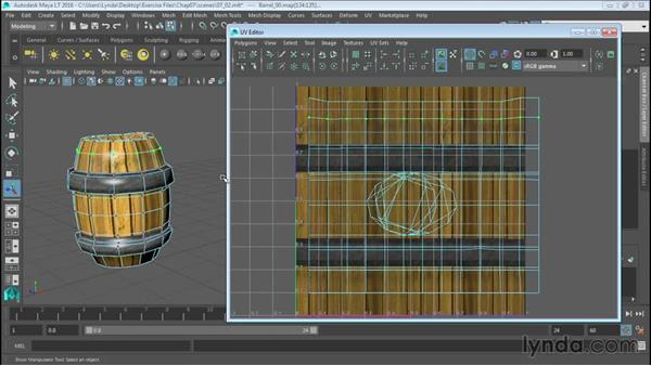 Understanding the UV Editor: Up and Running with Maya LT