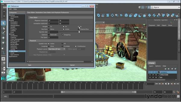 Understanding the animation interface: Up and Running with Maya LT