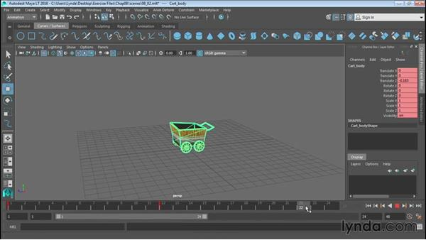 Animating objects using Set Key: Up and Running with Maya LT